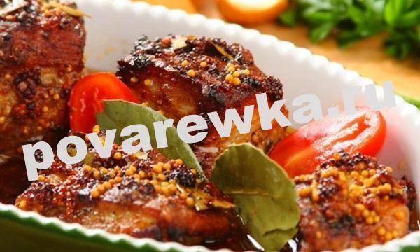 Свиные ребрышки в духовке: простой рецепт сочного мяса