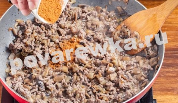 Блинчики с мясом и грибами - самый вкусный рецепт на молоке
