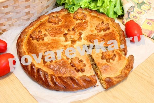 Пирог с мясом из фарша в духовке пошаговый рецепт