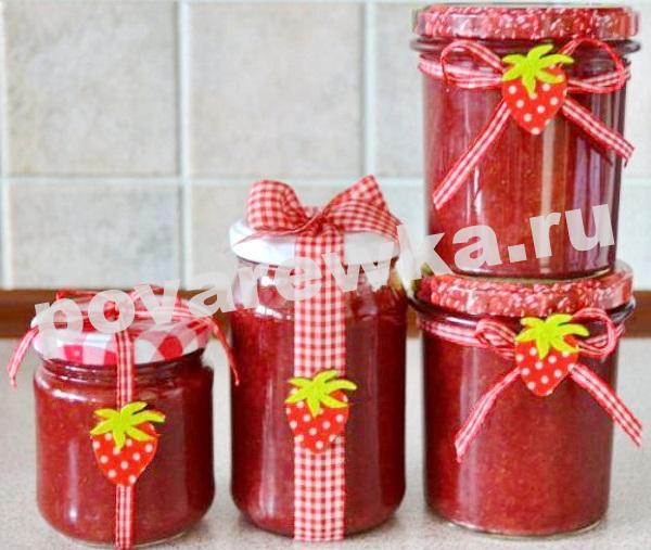Варенье из клубники пятиминутка на зиму: простой рецепт