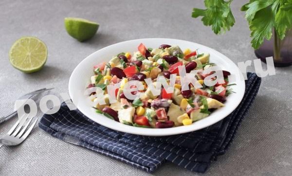 салат из фасоли с авокадо: быстро и легко
