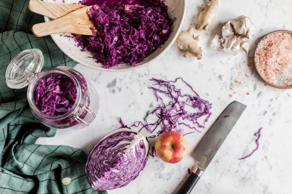 Маринованная капуста с имбирем и чесноком | МИНИ КУХНЯ
