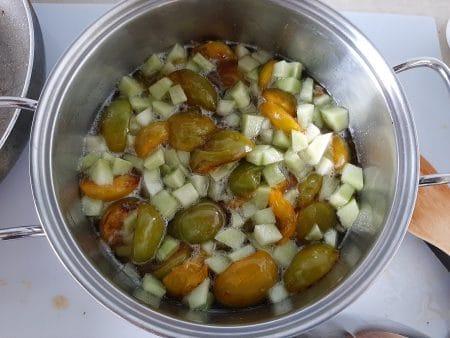 Варенье из белой сливы без косточек: простой рецепт с дыней
