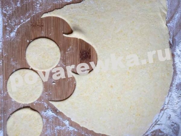 Печенье из творога Треугольники с сахаром в домашних условиях